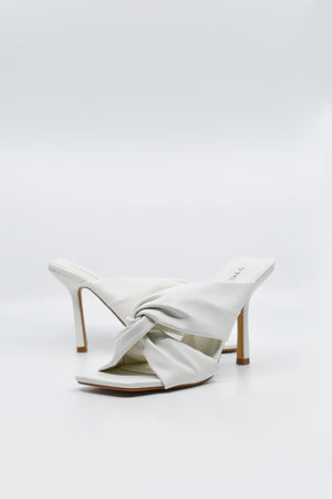 Load image into Gallery viewer, Kellie Knot Heeled Shoes White