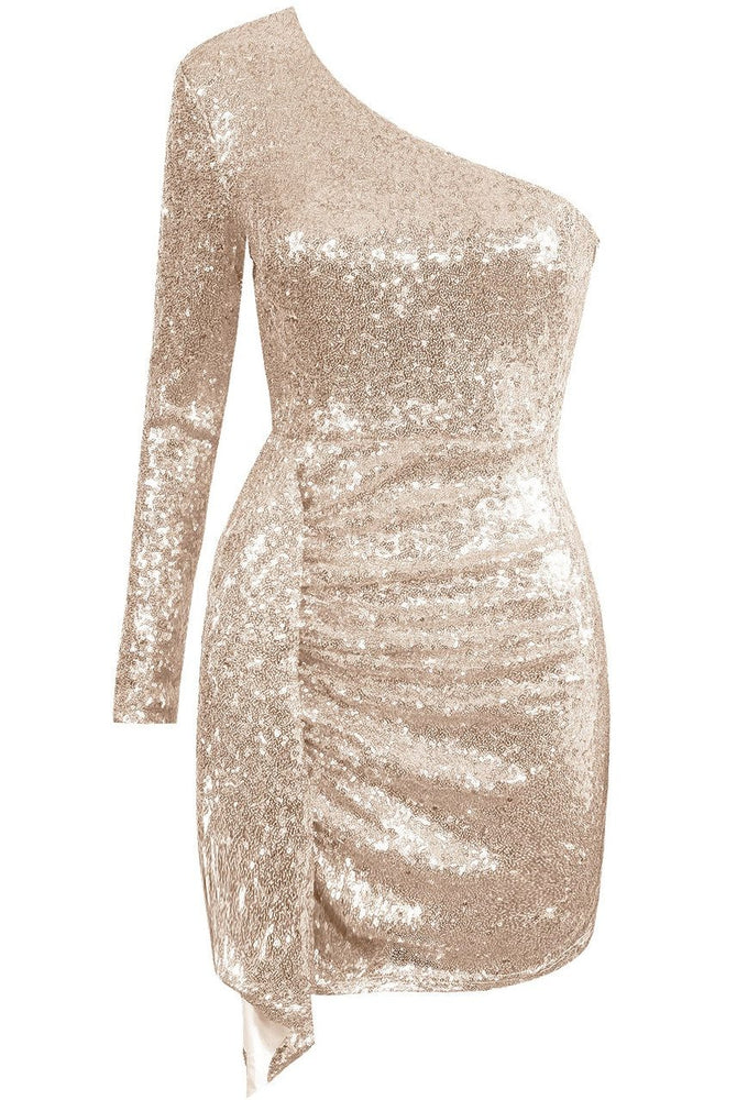 Out All Night Dress Champagne