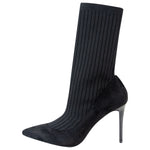 Glam Up Black Sock Boots