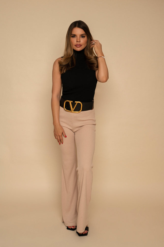Laila Pull on Ribbed Flares