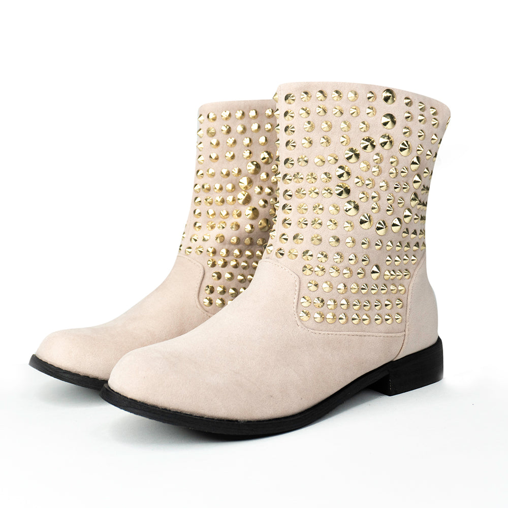 Jamie Gold Stud Boots