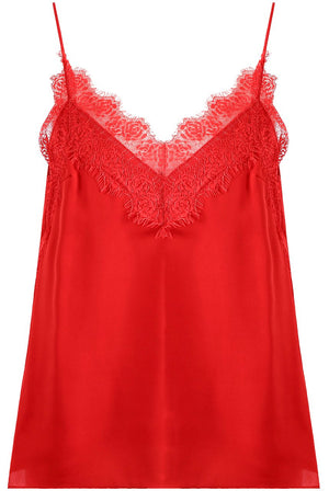 Lace Cami Top Red