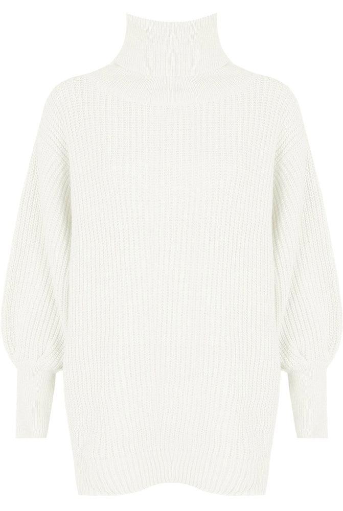 Load image into Gallery viewer, Olivia Oversized Roll Neck Jumper Cream