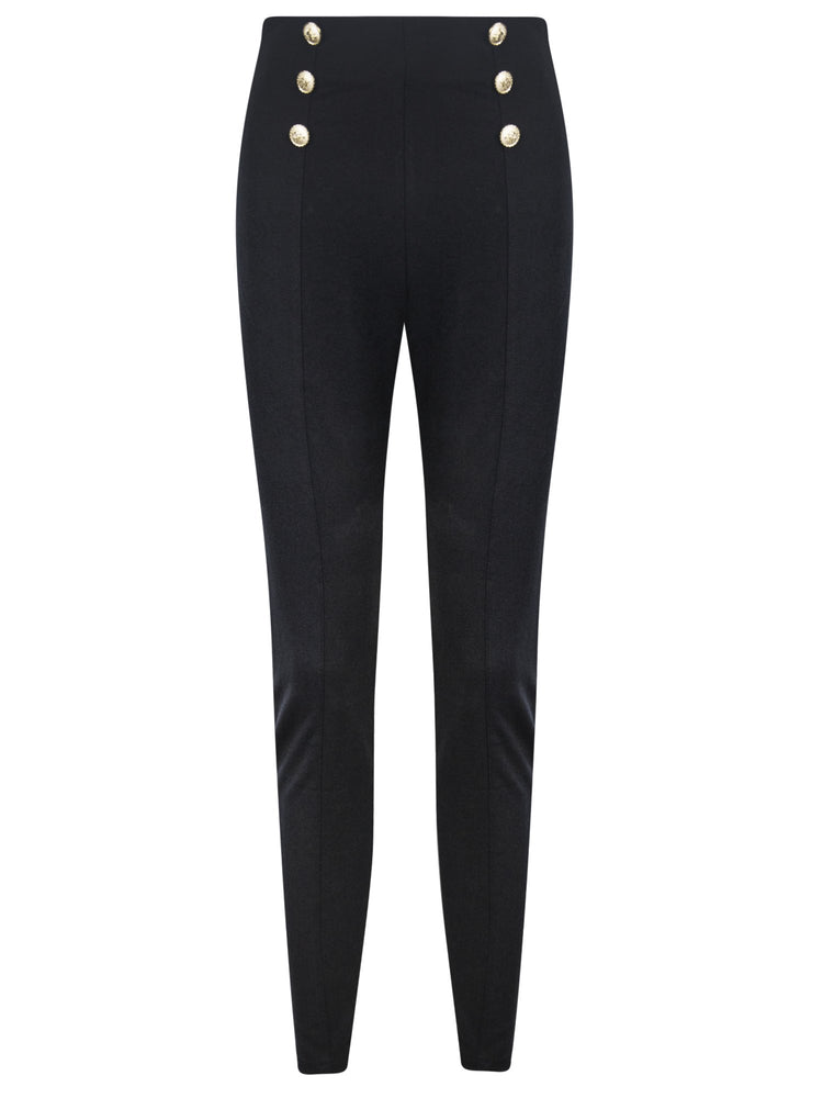 Sally Gold Button Trousers