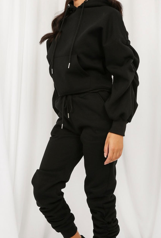 Carla Hooded Tracksuit Black