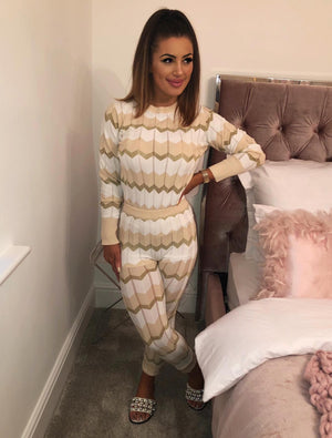Mizzi ZigZag Lounge Suite Cream