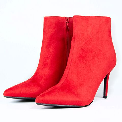 Marlin Red Ankle Boots