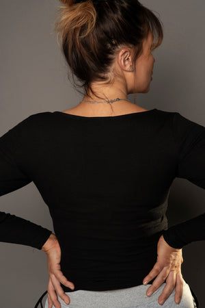 Load image into Gallery viewer, Tanya Side Knotted Top Black