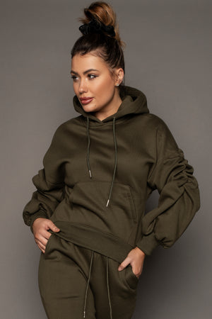 Load image into Gallery viewer, Carla Hooded Tracksuit Khaki