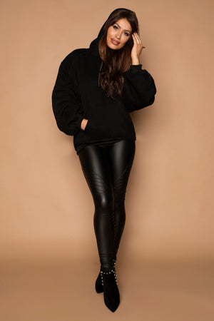 Load image into Gallery viewer, Beckie Biker Style Leather Look Leggings