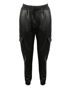 Jayde Leather Look Joggers