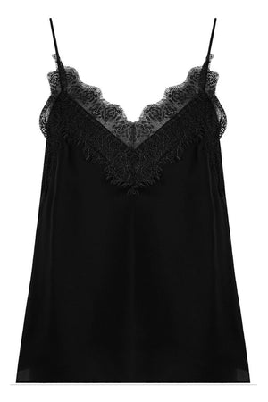 Lace Cami Top Black