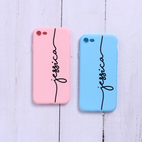Custom Name Soft Matte Phone Case