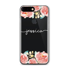 Load image into Gallery viewer, Floral Clear Phone Case