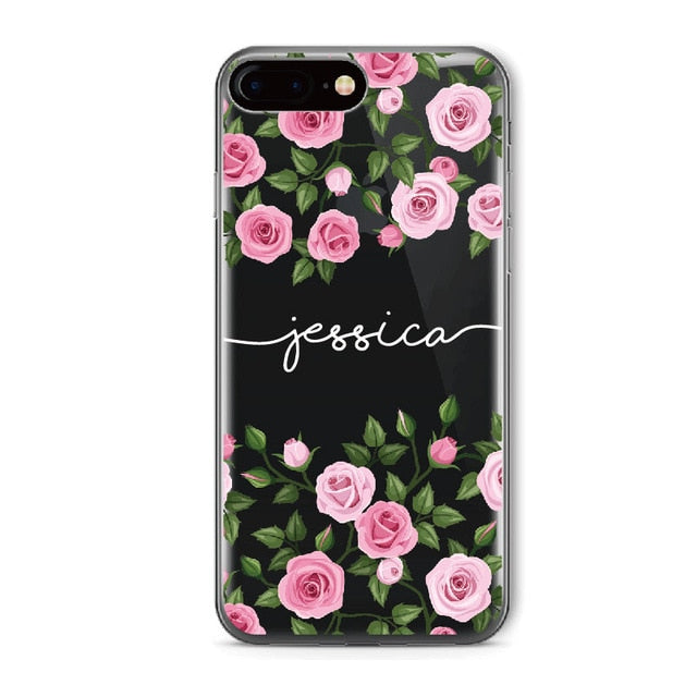 Floral Clear Phone Case