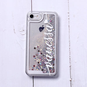 Custom Liquid Glitter Clear Phone Case