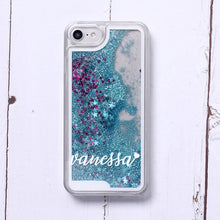 Load image into Gallery viewer, Custom Liquid Glitter Clear Phone Case