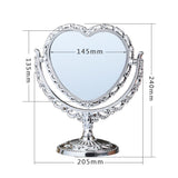 Miroir de Table<br>Miroir de Table en coeur