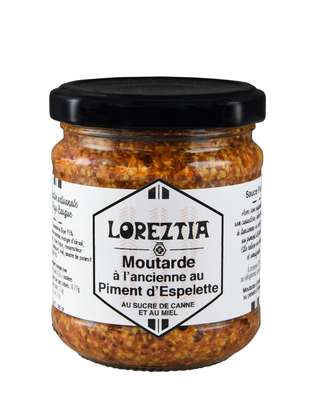 Moutarde à l'ancienne au piment d'Espelette