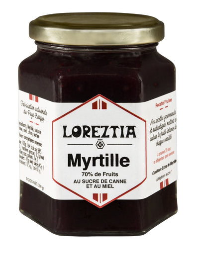 confiture de Myrtille du Pays Basque - Loreztia