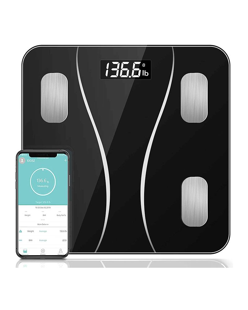 Bluetooth Smart Scale with App, Bathroom Weight Scale Body Composition Monitor