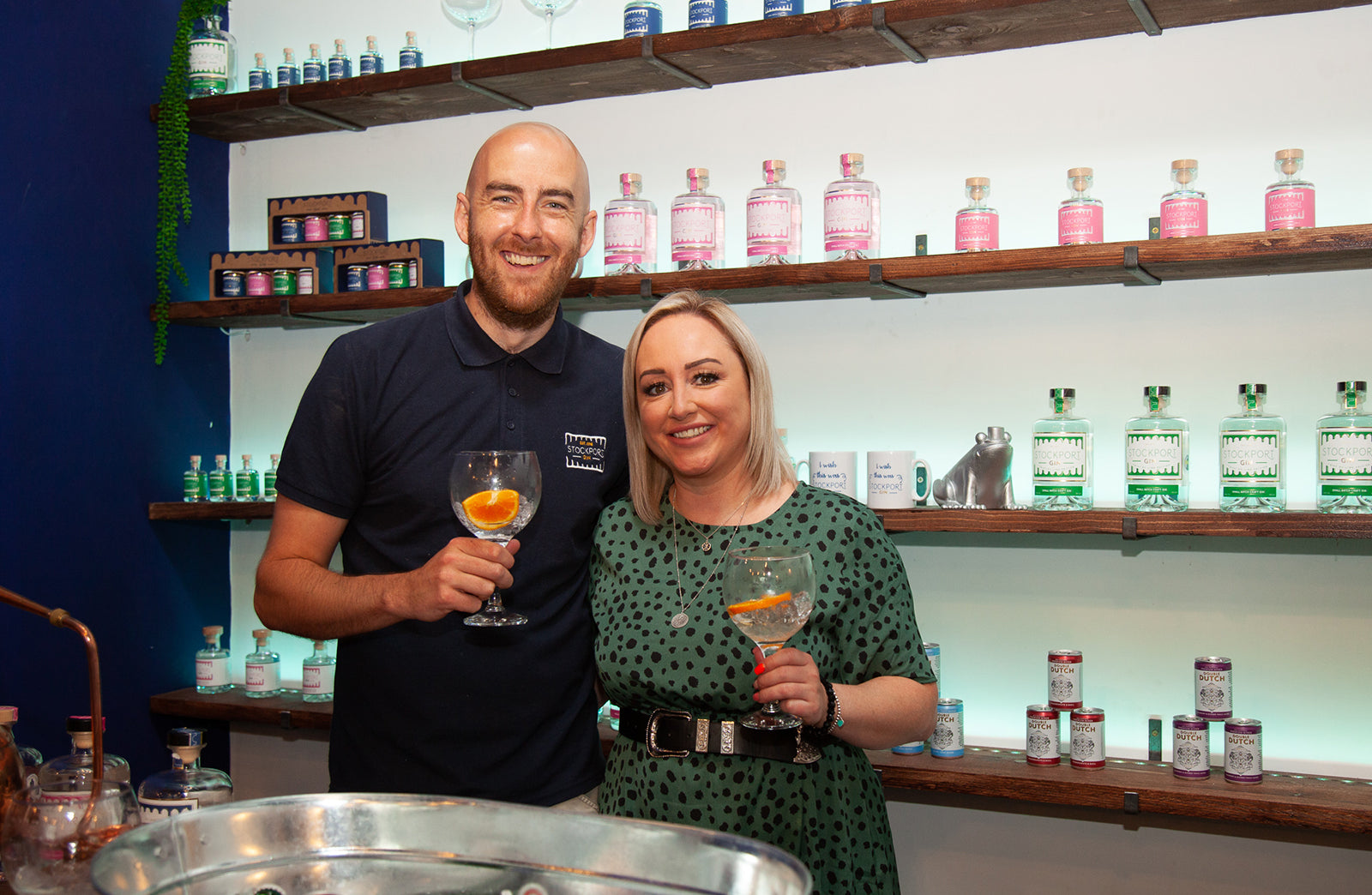 Stockport Gin Paul and Cheryl