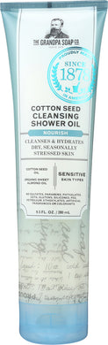 GRANDPAS: Cotton Seed Cleansing Shower Oil, 9.5 oz - Vending Business Solutions
