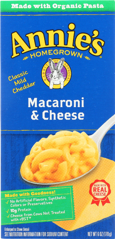 ANNIE'S HOMEGROWN: Classic Macaroni & Cheese, 6 oz - Vending Business Solutions