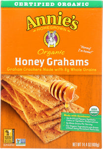 ANNIE'S HOMEGROWN: Organic Graham Crackers Honey, 14.4 oz - Vending Business Solutions