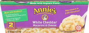 ANNIES HOMEGROWN: Pasta Cup White Cheddar 2pk, 4.02 oz - Vending Business Solutions