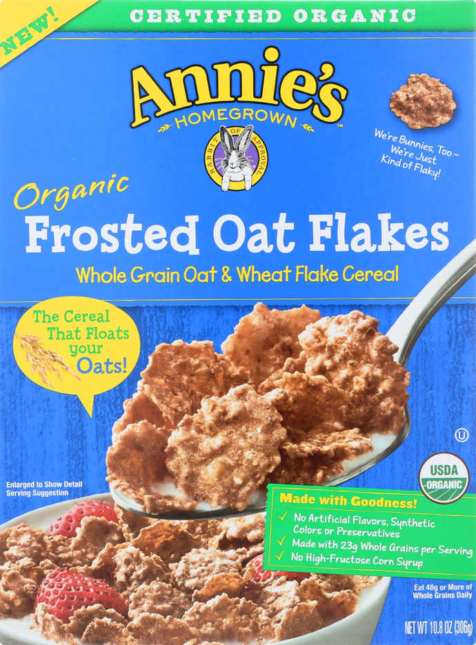ANNIES HOMEGROWN: Organic Frosted Oat Flakes Cereal, 10.8 oz - Vending Business Solutions