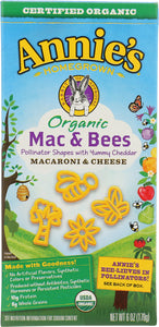 ANNIES HOMEGROWN: Organic Mac & Bees Macaroni & Cheese, 6 oz - Vending Business Solutions