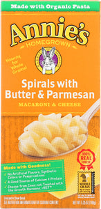 ANNIES HOMEGROWN: Macaroni & Cheese Spirals with Butter & Parmesan, 6 oz - Vending Business Solutions