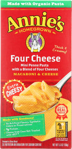 ANNIES HOMEGROWN: Macaroni & Cheese Four Cheese, 5.5 oz - Vending Business Solutions