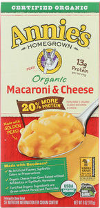 ANNIES HOMEGROWN: Organic Macaroni & Cheese More Protein, 6 oz - Vending Business Solutions