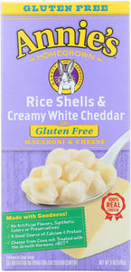 ANNIE'S HOMEGROWN: Rice Shells & Creamy White Cheddar Macaroni and Cheese Gluten Free, 6 Oz - Vending Business Solutions