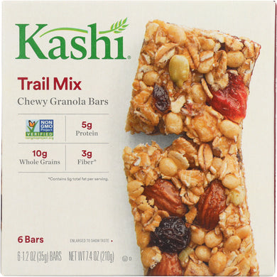 KASHI: Chewy Granola Bars Trail Mix 6 Bars 7.4 oz - Vending Business Solutions