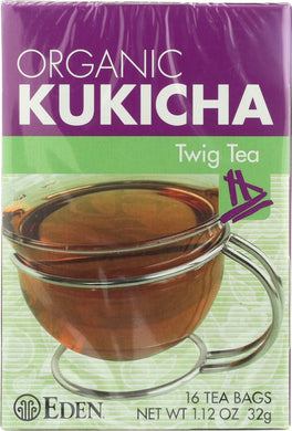 EDEN FOODS: Organic Kukicha Twig Tea, 16 teabags - Vending Business Solutions