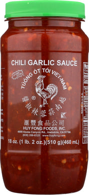 HUY FONG: Chili Garlic Sauce, 18 Oz - Vending Business Solutions
