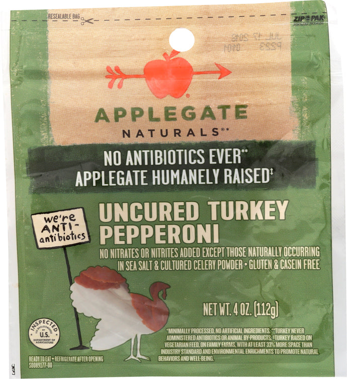 APPLEGATE: Natural Uncured Turkey Pepperoni, 4 oz - Vending Business Solutions