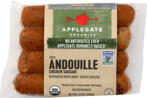 APPLEGATE: Spicy Andouille Chicken Sausage, 12 oz - Vending Business Solutions