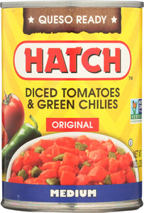 HATCH: Diced Tomatoes & Green Chilies Original Medium, 10 oz - Vending Business Solutions