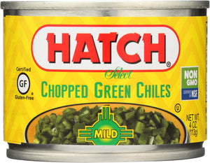 HATCH: Peeled Chopped Green Chiles Mild, 4 oz - Vending Business Solutions