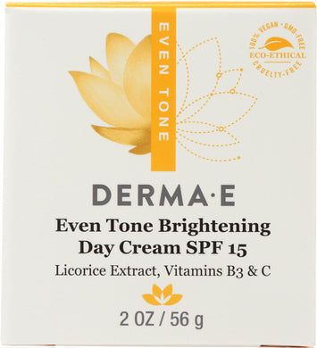 DERMA E: Evenly Radiant Brightening Day Creme SPF 15, 2 oz - Vending Business Solutions