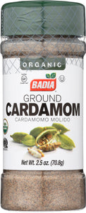 BADIA: Organic Ground Cardamom, 2.5 oz - Vending Business Solutions