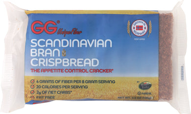 GG SCANDINAVIAN: Bran Crispbread, 3.5 oz - Vending Business Solutions