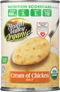 HEALTH VALLEY ORGANIC: Cream of Chicken Soup, 14.5 oz - Vending Business Solutions
