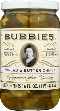 BUBBIES: Pickle Bread and Butter Chips, 16 oz - Vending Business Solutions