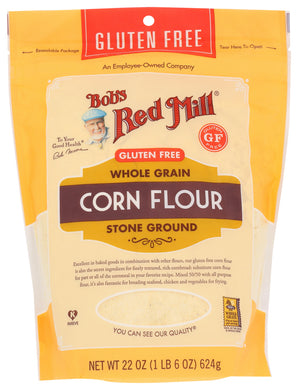 BOB'S RED MILL: Gluten Free Corn Flour, 22 oz - Vending Business Solutions