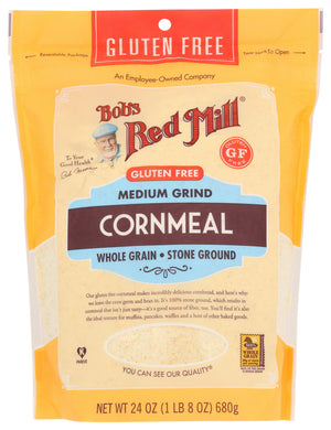 BOB'S RED MILL: Gluten Free Medium Grind Cornmeal, 24 oz - Vending Business Solutions